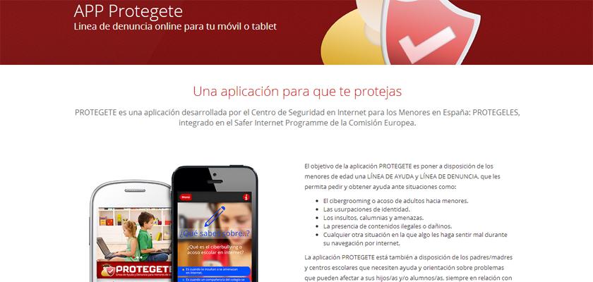 """""""Protégete"""", una App contra el acoso"""