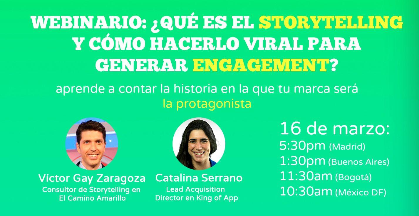 [WEBINARIO] ¿Qué es el Storytelling y cómo hacerlo viral para generar engagement?