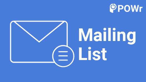 POWr Mailing List