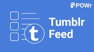 POWr, Tumblr, Feed, Modulo