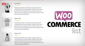 Woocommerce, List, modulo