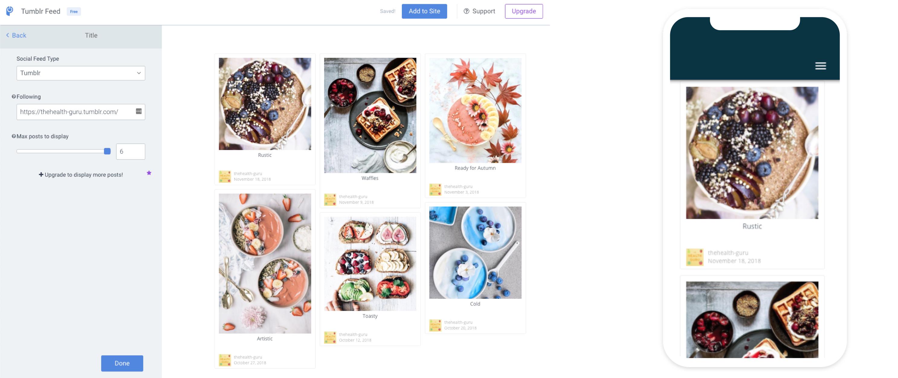 powr, tumblr, feed, module