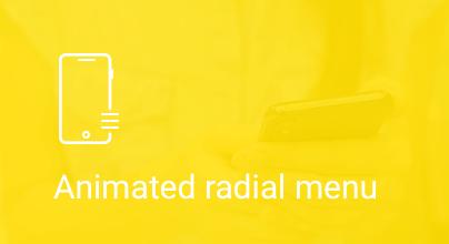 Animated Radial Menu