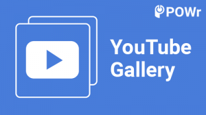 POWr, YouTube, Gallery, module