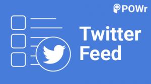 POWR, Twitter, feed
