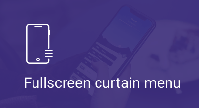 Fullscreen Curtain Menu