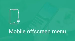 Mobile offscreen push menu, module
