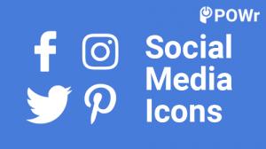 POWr, Social Media, Icons, Module
