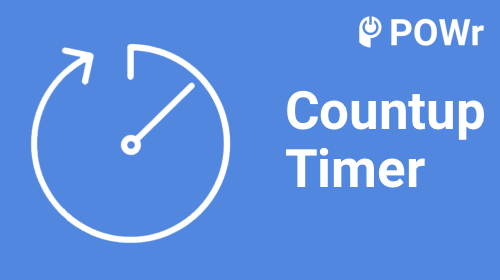 Powrio Count Up Timer