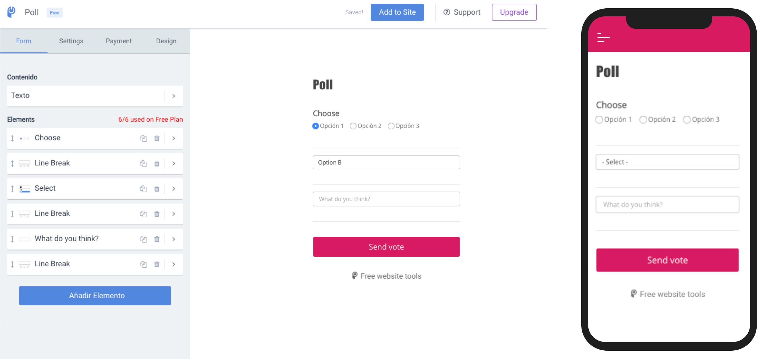 POWr, Poll, module